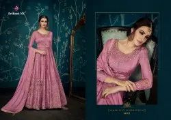 Ulfat-Arihant Nx Party Wear Heavy Designer Pure Satin Silk Gowns