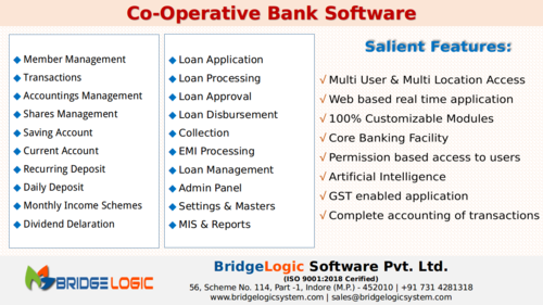 Banking Software Or NBFC And MFI, Indore And Hyderabad