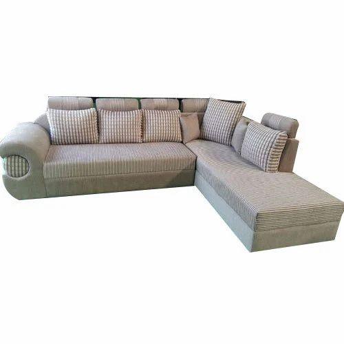 White Corner Modular Sofa Set, Rs 16000 /set, Kreft Furniture | ID ...