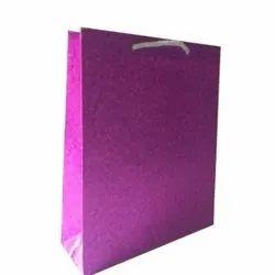 Plain Handled Purple Handmade Paper Bag, Capacity: 5kg