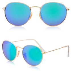 Green Mercury Golden Sunglasses