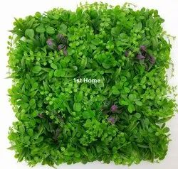 Artificial Green Wall With Purple Flowers