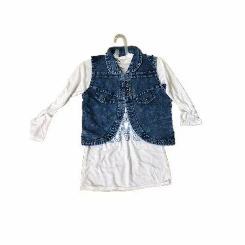 6a5e8de9f95 Livanshi Fashion Blue Casual Denim Girls Jacket