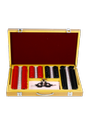 Trial lens set red and black metal ring in wooden box with trial frame (25mm)