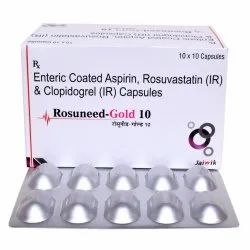 Rosuvastatin 10mg, Aspirin 75mg & clopidogerel 75mg