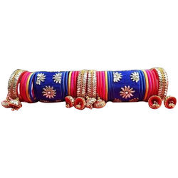 Kundan Designer Silk Thread Bangles