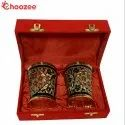 Choozee - Brass Handmade Designer Glass Set of 2 Pcs