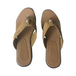 Ladies Casual Wear Brown Leather Sandal