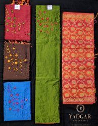 Cotton Salwar Female Ladies Silk Handwork Dress Material, For Ethnic-wear For Outings, Size: 2.5mts Cut