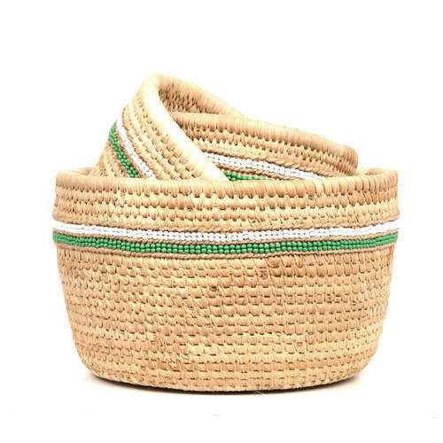 Palm Round Basket At Rs 285 Piece Palm Leaf Basket Id 14673688488