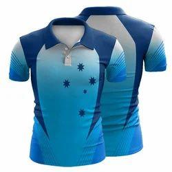 Royaltee Blue Mens Cricket T Shirt