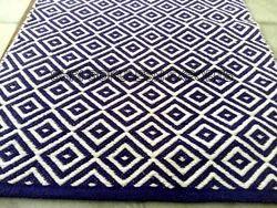 SGE Rectangle Cotton Flat Weave Carpet, Size: 60X120 cm