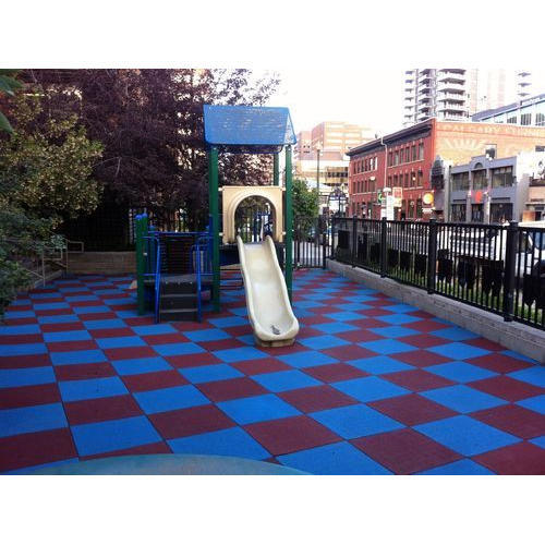 Outdoor Rubber Flooring Tile, Size: 500 Mm X 500 Mm, Rs 48