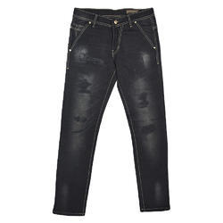 Rugged Denim Black Jeans