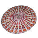 Indian Cotton Mandala Round Tapestry