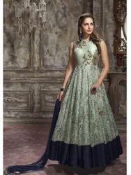 3e546dc06a03 Embroidered Gown in Surat, एम्ब्रॉइडरेड गाउन ...