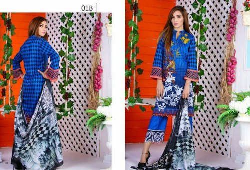 1c4e10e695 Anum Lawn Casual Wear Pakistani Printed Lawn Suits, Rs 799 /piece ...