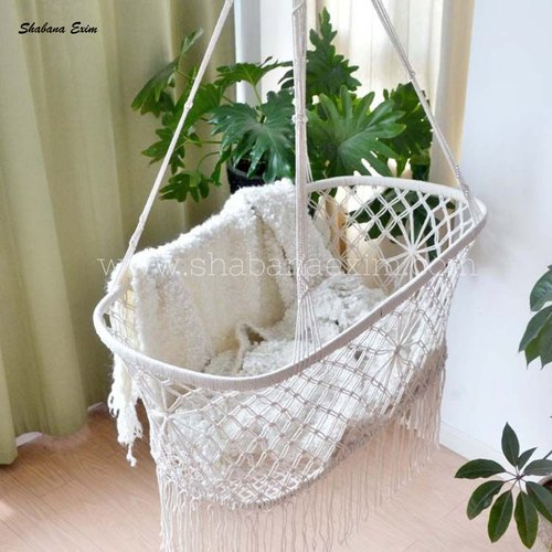 Boho Macrame Bassinet Hammock Macrame Hanging Chair For Baby