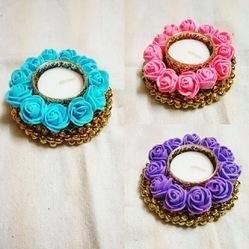 Colorful Flower Decorative Diya