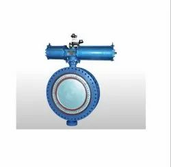 Pneumatic Actuator  Double Flange Butterfly Valve