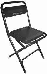 Black Foldable Mild Steel Folding Chair for Home, Restaurant