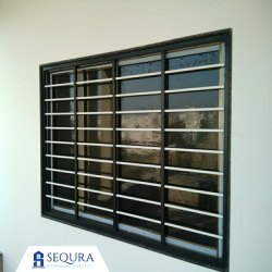 Sequra Black Modular Window Safety Guard