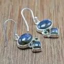 925 Sterling Silver Jewelry Labradorite And Peridot Gemstone Handmade Earring We-6037