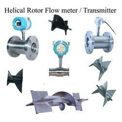 Positive Displacement Helical Rotor Flow Meter