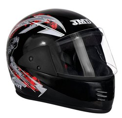 JMD Elegant Black-Red Decor Full Face Helmet