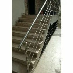 Bar Stainless Steel Stairs Railing, For Home, Material Grade: SS304