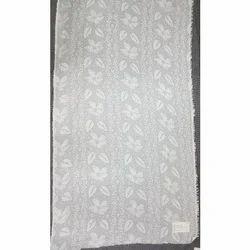 Polyester/Viscose White Jacquard Shawls