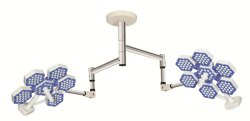 Series 6 - Ceiling Mounted Surgical LED Lights - Twin Dome