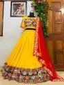 Semi Stitch Designer Lehenga Choli