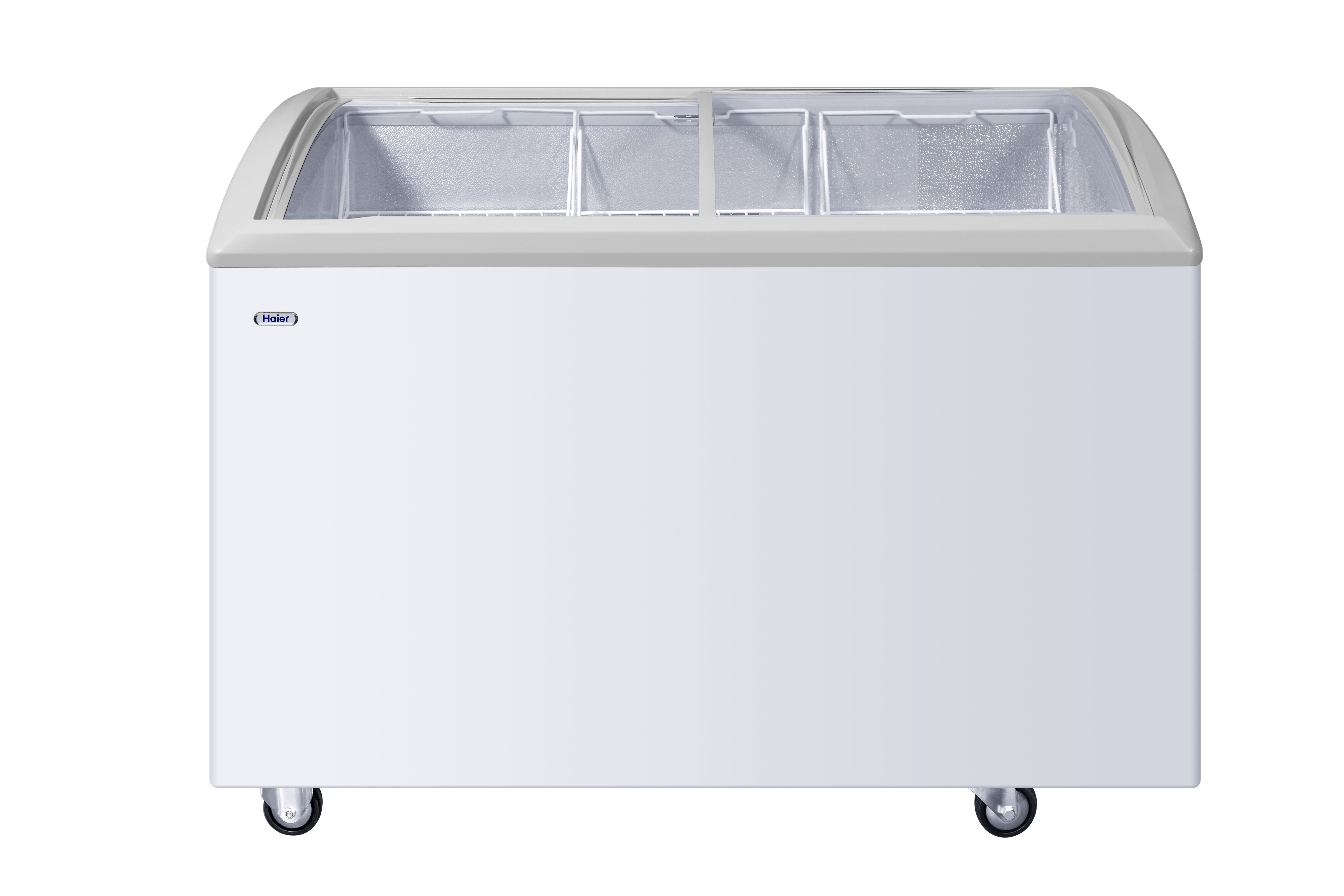 Haier 300 Ltrs Curved Glass Top Deep Freezer, HCF-300GHC