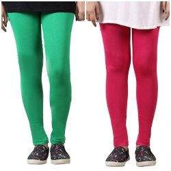 Cotton Lycra Straight Fit Kids Leggings in 4 way Stretchable
