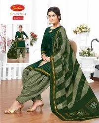 Cotton Baalar Colourful Dress Material