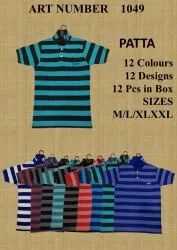 MEN PATTA COLLAR T SHIRT