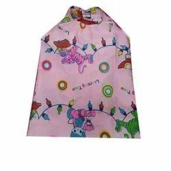Pink Cartoon Printed Carry Bag