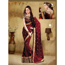 Chiffon Party Wear Ladies Saree