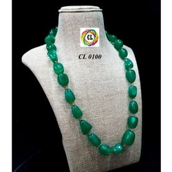 CL Code Tumble Semi Precious Stone Single Line Imitation Jewellery Necklace manufacturer direct