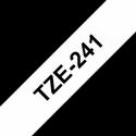 Brother TZe-241 Labelling Tape Cassette Black on White, 18mm x 8m