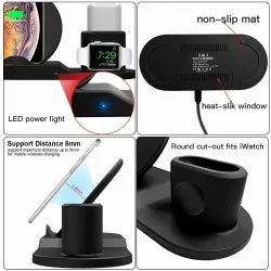 Black 3 in 1 wireless charger