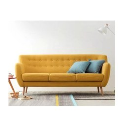 Modern Three Seater Wooden Sofa