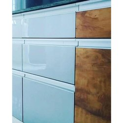 Glossy Pull Out Kitchen Cabinet