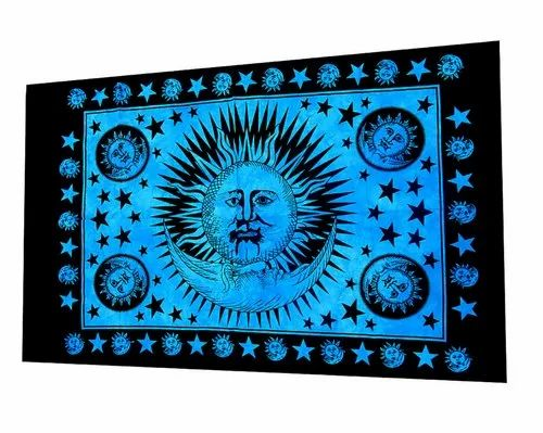 30x40 Inches Sun Moon Mandala Wall Poster Throw Tapestry