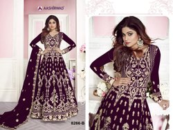 Embroidered Mix Heavy Net with Embroidery Work Anarkali Suit