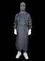 Surgeon Gown Grey Heavy Duty  Fabric With Waterproof Fabric