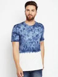 Men Half Sleeve Round Neck 100% Cotton Tie Dye T-Shirt