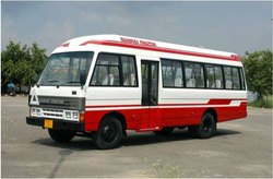Non AC Seater Bus Swaraj Mazda Coach Rental Service, Bangalore, Seating Capacity: 18 Seater