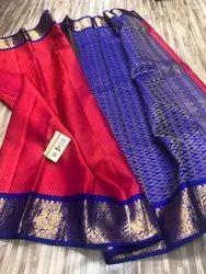 458ccd32a9 Indian Ethnic Designer Handloom Kanchipuram Korvai Border Soft Silk Saree